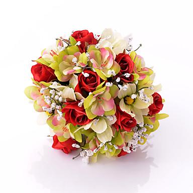 Düğün Çiçekleri Buketler Düğün Parti / Gece Saten 11.8