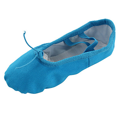 Women's Belly Shoes / Ballet Shoes / Yoga Canvas Flat Flat Heel Non Customizable Dance Shoes Blue / Indoor