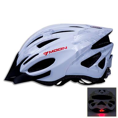 MOON Adulți biciclete Casca 21 Găuri de Ventilaţie CE Certificare Rezistent la Impact, Vizor detașabil EPS, PC Ciclism stradal / Ciclism recreațional / Ciclism / Bicicletă - Alb