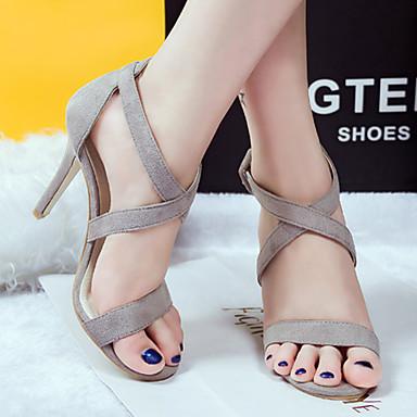 cb673b208ba Γυναικεία παπούτσια Βελούδο Τακούνι Στιλέτο Με Τακούνι/Peep Toe Πέδιλα  Φόρεμα/Καθημερινά/Πάρτι