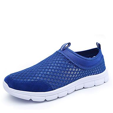 Erkek Ayakkabı Tül Bahar Yaz Sonbahar Hafif Tabanlar Rahat Koşu için Gri Siyah Açık Mavi