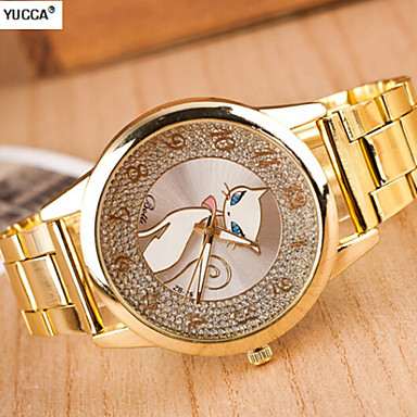 Lady's Quartz Swiss alloy watch men and women White steel band watch fashion Cool Watches Unique Watches