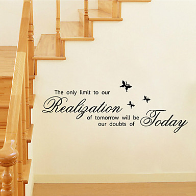 Wall Stickers Wall Decals Style The Only Limit English Words & Quotes PVC Wall Stickers