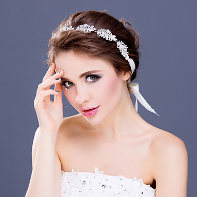 Women's Rhinestone / Alloy Headpiece-Wedding / Special Occasion Tiaras / Headbands 1 Piece Clear