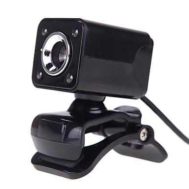 4Led Usb 2.0 12 M Hd Kamera Web Kamera Med Mikrofon Klip-On Nattsyn 360 Graders For  Skype Datamaskin Pc Laptopp