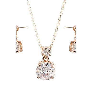 Damen Kristall Krystall / Kubikzirkonia Schmuck-Set Ohrringe / Halsketten - Vier Krappen Schmuckset Für Hochzeit / Party / Alltag