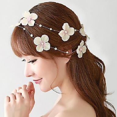 Femme / Jeune bouquetière Alliage / Imitation de perle / Tissu Casque-Mariage / Occasion spéciale / Extérieur Fleurs 1 Pièce