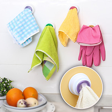 предназначен самоклеящиеся кухня держатель ткани полотенца крюк (случайный цвет)