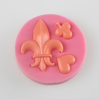a szívét pikk fondant torta csokoládé szilikon penész, dekorációs szerszám bakeware