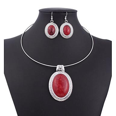 Mulheres Conjunto de jóias - Vintage Incluir Vermelho / Verde / Azul Para Casamento / Festa / Ocasião Especial