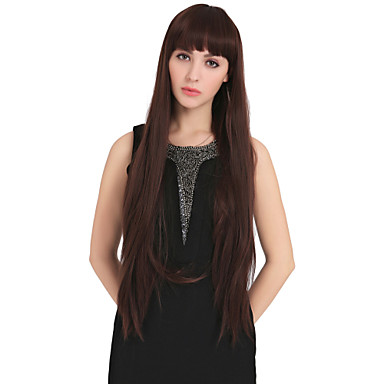Women Synthetic Wig Capless Straight With Bangs Halloween Wig Carnival Wig Costume Wig