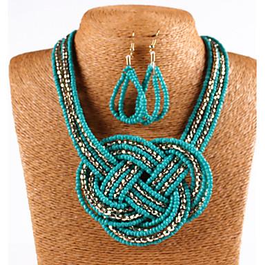 Damen Schmuckset Künstliche Perle Acryl Böhmische Modisch Alltag Normal Ohrringe Halsketten Modeschmuck