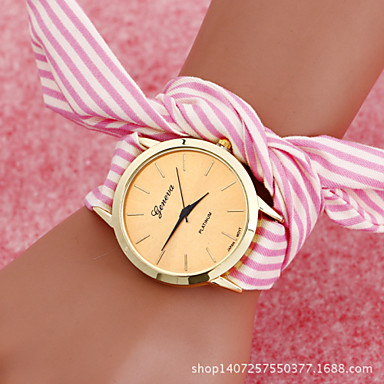Женские Модные часы Часы-браслет Кварцевый сплав Группа Винтаж Золотистый