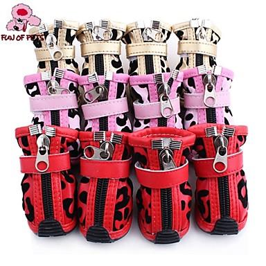 Γάτες Σκυλιά Παπούτσια & Μπότες Καθημερινά Χειμώνας Άνοιξη/Χειμώνας Συνδυασμός Χρωμάτων Κόκκινο Ροζ Χρυσό PU Δέρμα