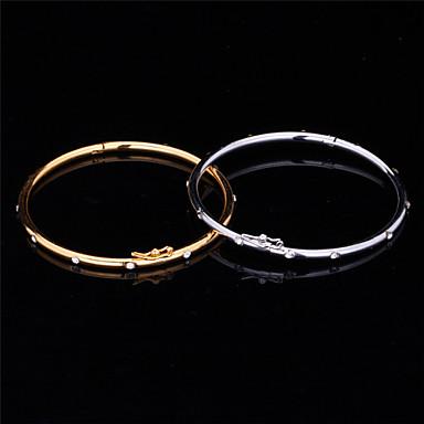 Women's Bangles Vintage Bracelet Synthetic Diamond Rhinestone Platinum Plated Gold Plated Imitation Diamond Alloy Circle Jewelry