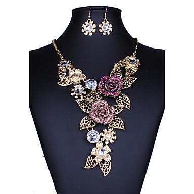 Mulheres Conjunto de jóias - Flor Euramerican Incluir Dourado Para Casamento / Festa / Ocasião Especial
