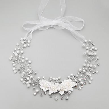 模造真珠のラインストーンのヘッドバンドヘッドピース古典的な女性的なスタイル