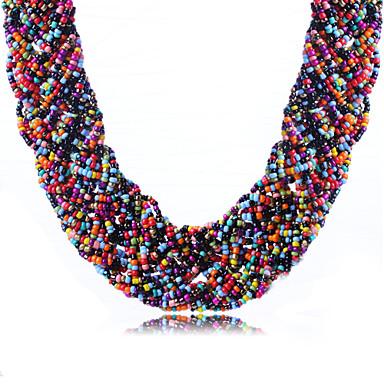 Damen Anhängerketten Halsketten - Strass Erklärung, Böhmische, Modisch Grün, Rosa, Regenbogen Modische Halsketten Für Alltag, Normal