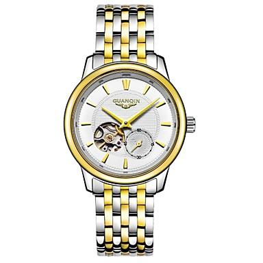 Herren Armbanduhr Automatikaufzug Wasserdicht / Transparentes Ziffernblatt Edelstahl Band Silber Marke
