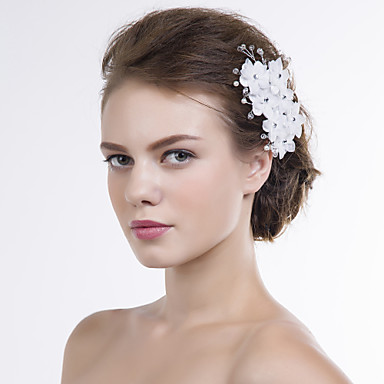 Organza Flowers 1 Wedding Special Occasion Headpiece