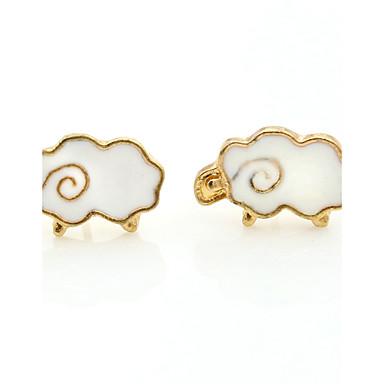 עגילים צמודים אופנתי ארופאי ציפוי זהב סגסוגת לבן תכשיטים ל 1set