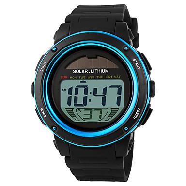 SKMEI Herrn digital Solarenergie Digitaluhr Armbanduhr Sportuhr Alarm Kalender Chronograph Wasserdicht Solar Sportuhr LCD Caucho Band Cool