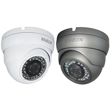 Vanntett/Dag Nat/Motion Detection/PoE/Dobbeltstrømspumpe/Fjernadgang/IR-klip/Plug and play Kuppel - Utendørs - IP-kamera