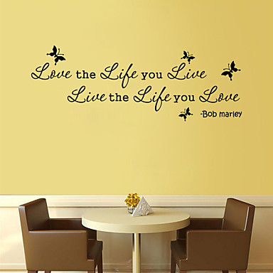 Eläimet Words & Quotes Sarjakuva Wall Tarrat Words & Quotes Wall Stickers Koriste-seinätarrat, Vinyyli Kodinsisustus Seinätarra Seinä
