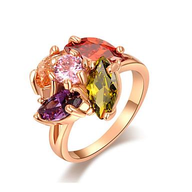 Массивные кольца Позолота Сплав Мода Бижутерия Свадьба Для вечеринок Повседневные 1шт