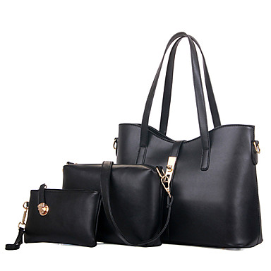 Damen Taschen PU Tragetasche / Umhängetasche / Bag Set 3 Stück Geldbörse Set für Einkauf / Formal / Büro & Karriere Blau / Rosa / Wein