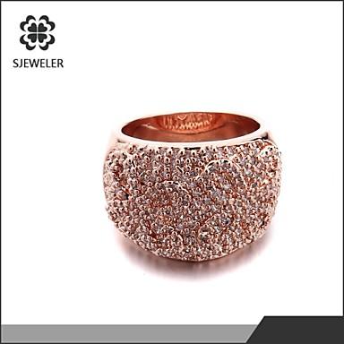 Bagues Affirmées Mode Bijoux de Luxe Zircon Platiné Imitation Diamant Bijoux Pour Mariage Soirée 1pc