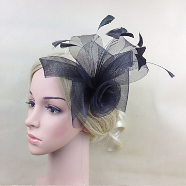 Feather Net Fascinators Flowers Headpiece Classical Feminine Style