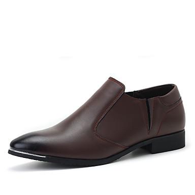 Oxford-kengät-Tasapohja-Miesten-Nahka Kangas-Musta Ruskea Keltainen-Toimisto Rento-Comfort