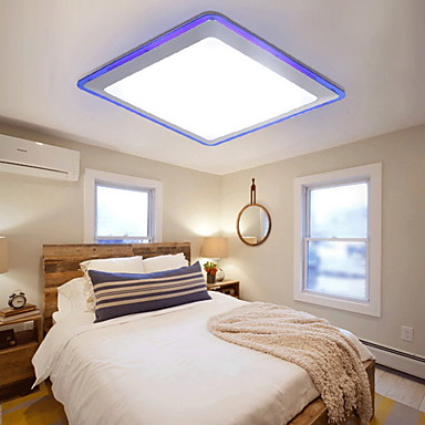 Ecolight™ Takplafond Omgivelseslys - LED, 90-240V, Varm Hvit / Hvit, LED lyskilde inkludert / 10-15㎡ / Integrert LED
