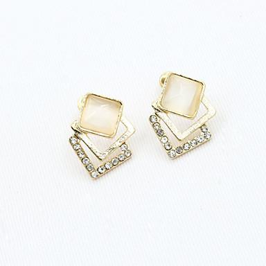 Stud Earrings Crystal Rhinestone Gold Plated Simulated Diamond 18K gold Fashion Gold Jewelry 2pcs