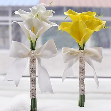 Λουλούδια Γάμου Μπουκέτα Γάμου Χάντρες Πολυεστέρας Σατέν Αφρός 6,3