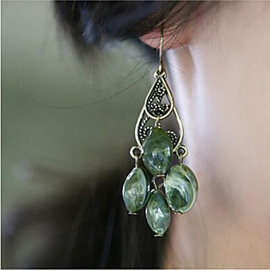 Κρεμαστά Σκουλαρίκια Κράμα Βοημία Style Πράσινο Κοσμήματα 2pcs