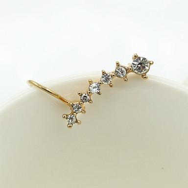 Kadın's Vidali Küpeler Kristal Moda Avrupa Yapay Elmas Altın Kaplama Avusturya Kristali 18K altın Simüle Elmas Mücevher Kostüm takısı