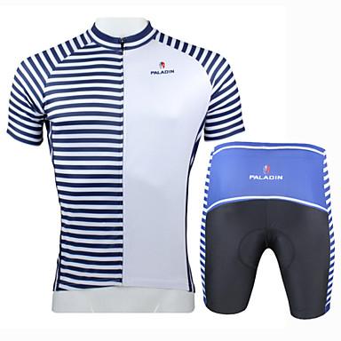 Şortlu Bisiklet Forması Erkek Kısa Kol Bisiklet Forma Giysi SetleriHızlı Kuruma Ultravioleye Karşı Dayanıklı Yalıtımlı Nem Geçirgenliği