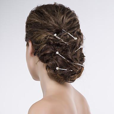 Γυναικείο Κράμα Οργάντζα Δίχτυ Headpiece-Γάμος Ειδική Περίσταση Καθημερινά Καρφίτσα Μαλλιών 6 Κομμάτια