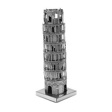 voordelige 3D-puzzels-Houten puzzels Modelbouwsets Houten modellen Scheve toren van Pisa Metaal Kinderen Volwassenen Jongens Meisjes Speeltjes Geschenk