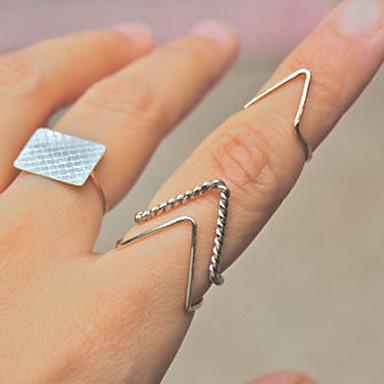 Damen - Modisch Gold Silber Ring Für Party