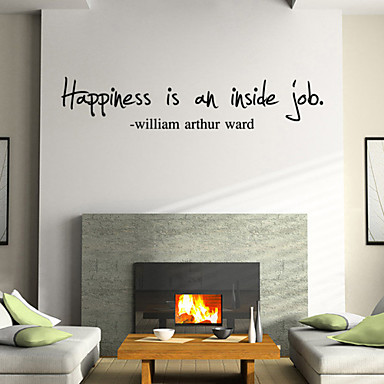 Wall Stickers Wall Decals Style Happniess English Words & Quotes PVC Wall Stickers