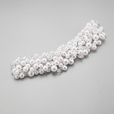 Kadın Çiçekçi Kız Kristal alaşım İmitasyon İnci Başlık-Düğün Özel Anlar Saç Bantları 1 Parça