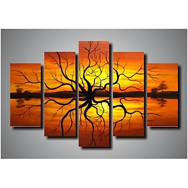 malowanie ścian wystrój sztuki nowoczesnej dekoracji obraz olejny ręcznie malowany na płótnie 5pcs / set bez ramki