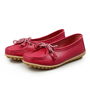 Women's Shoes Flat Heel Comfort/Round Toe Loafers Office & Career/Dress/Casual Blue/Red/White