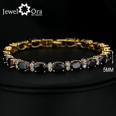 abordables Bracelet-Chaînes Bracelets Bracelet Plaqué or Rétro Vintage Soirée Travail Simple Lien / Chaîne Mode Bracelet Bijoux Noir pour Occasion spéciale Anniversaire Cadeau Quotidien