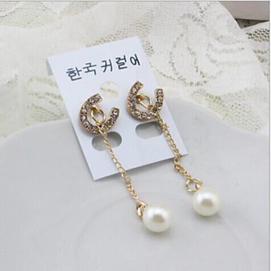 Σκουλαρίκι Κρεμαστά Σκουλαρίκια Κοσμήματα 2pcs Κράμα / Απομίμηση Μαργαριταριού Γυναικεία Ασημί
