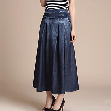 Γυναικείες Φούστες · Μεσαίου Πάχους - Μίντι - Στυλ - ΦΟΥΣΤΑ (  Βαμβάκι Ντένιμ ) 63e81fcfeee