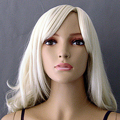 Women's Synthetic Wig Curly White L16-613 Costume Wig
